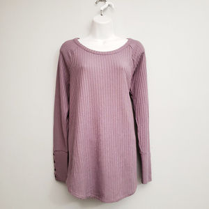 Chaser Waffle Thermal Tunic Top